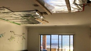 Ceiling collapse South Morang box gutter failure